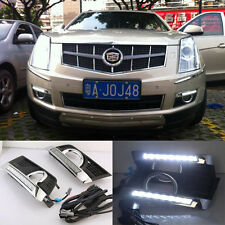 White LED DRL Daytime Running Lights Lamp Cover For Cadillac SRX 2012-2016