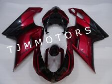 ABS Injection Mold Bodywork Fairing Kit for Ducati 1198/1098/848 07-11 Red Black