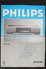 PHILIPS cd-930 ORIGINALE LETTORE CD istruzioni d'USO / istruzioni d'uso