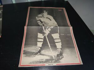 boston bruins vintage bobby orr defenseman  # 4 black & white poster hof hockey
