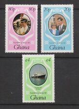 1981 Royal Wedding Charles & Diana MNH Stamp Set Ghana Perf SG 948-950