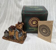 "Boyds Bears Figurine ""Bailey In The Orchard"" Apples Basket Cider Decor #2006 Nib"