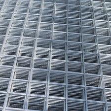 "2x Welded Wire Mesh Panels 1.2x2.4m Galvanised 4x8ft Steel Sheet Metal 2"" Holes"