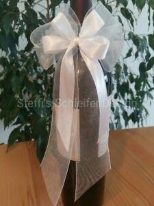 Autoschleifen Hochzeitsschleifen Antennenschleifen Deko Schleifen Hochzeit weiß