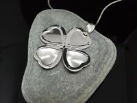 """Heart Locket Family Photo x4 925 Sterling Silver 16/18/20"""" Necklace Gift Box UK"""