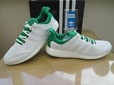 ADIDAS PUREBOOST CHILL WHITE GREEN COURSE RUNNING TRAINERS  SIZE 11.5 EUR 46.3