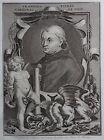 Gravure Etching Portrait FRANCOIS PIERRE Cardinal de Foix Bernard Picart