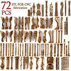 3d stl Model Collection 72 pcs Pack for CNC Router Artcam