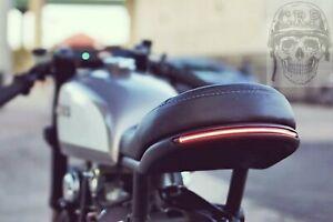 🇮🇹 FARO STOP FRECCE LED SEQUENZIALI MOTO CUSTOM CAFE RACER SCRAMBLER