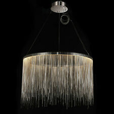 CGC Large Chrome Silver Waterfall Shimmer LED Pendant Light Ceiling Lamp Tier