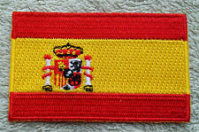 SPAIN FLAG PATCH Embroidered Badge Iron or Sew on 3.8cm x 6cm España Spanish NEW