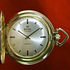 Precimax Handaufzug Sprungdeckel Taschen Vintage Uhr von 1975