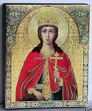 Icon Saint Catherine wood consecrated Святая Екатерина освящена 12x10x2 cm