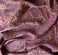 Rose & Gold Silk Indian Shawl Reversible Jamavar Shawl Jamawar Stole