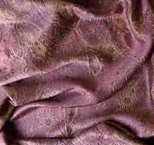 Rose & Gold Silk Indian Shawl Reversible Jamavar Shawl Jamawar Stole