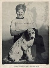 English Setter W/ Famous Actor Child Jackie Cooper Photo 1934 Vintage Dog Print