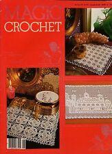 MAGIC CROCHET 26 Aug 1983 Doily Centerpiece Filet Table Mat 27 Patterns