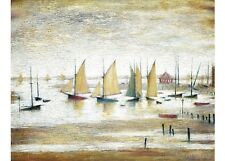L S Lowry - Yachts at Lytham - MEDICI POSTCARDS