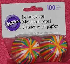 Bright Stripes,Wheel Mini Cupcake Papers,100 ct,Wilton,Paper,Multi-color415-1869