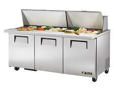 True Tssu-72-30M-B-St-Hc Mega Top Sandwich & Salad Prep Cooler 30 Pan 19 cu.ft