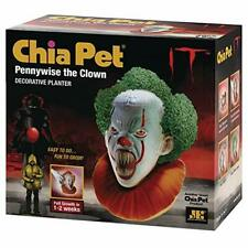 New listing Chia Pet It Pennywise Screaming with Seed Pack Decorative Pottery Planter Eas.