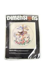 New! 1988 DIMENSIONS Carousel Horse Cross Stitch Kit #1345 Needlepoint