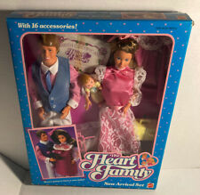 Vintage Heart Family New Arrival Barbie Dolls Baby Mom Birth Certificate NRFB