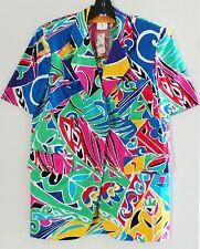NWT Vintage ESCADA Multicolor Cotton Shortsleeve Top Blouse Tunic, ORP $920, L