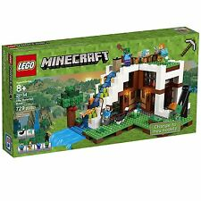 LEGO Mine Craft The Waterfall Base 21134 Building Kit, 729 Pieces