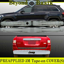 For 2007-2012 JEEP PATRIOT Chrome Door Handle COVERS W/O SMKey+Tailgate Accent