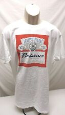 Budweiser Beer Label Graphic Cotton Novelty Men's Xl T-Shirt White