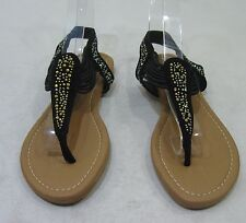 new Summer Black Rhinestone Womens Shoes Sexy Elastic Sandals Size 5