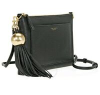 Tory Burch Pebbled Black Leather Cross Body Bag - Black