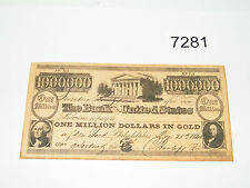 1840 Bank of United States $1,000,000 Promotional Note Copy Souvenir Repro