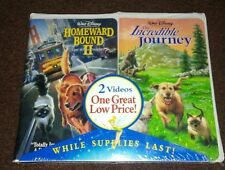 New Homeward Bound 1 & 2 The Incredible Journey Rare Combo VHS 1996 Freeshipping