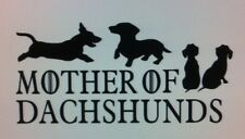 Mother Of Dachshunds vinyl window decal