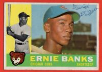 1960 Topps #10 Ernie Banks VG-VGEX+ WRINKLE MARKED Chicago Cubs HOF FREE SHIP