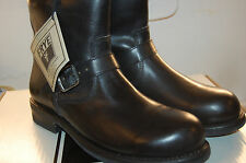 NU Frye Sutton Engineer full grain Leather size 10 Mens Biker Boots Black $400