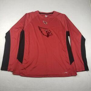 Majestic Arizona Cardinals NFL Red T-Shirt Size Xl Long Sleeve Active Adult