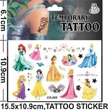 DISNEY PRINCESS childrens  Temporary Body Tattoo Stickers Party Favors Gift
