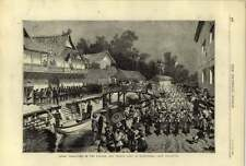 1875 Japan Yokohama Departure Of English And French Army Of Occupation