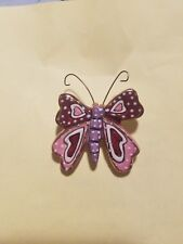 Heather Goldminc Butterfly brooch pin purple pink very pretty