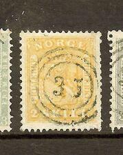 NORWAY (P1908B) SC6  3 RING 35  VFU