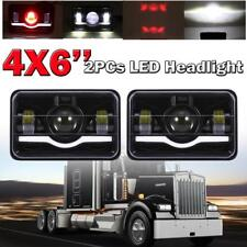"DOT Approved 4x6"" Led Headlight Hi/Lo For Ford Jeep Chevrolet GMC Kenworth Pair"