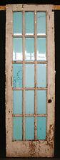 "30""x95""x1.75"" Antique Vintage French Wood Wooden Door Window Beveled Glass Lites"