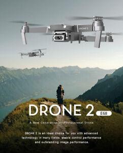 New E68 Mini Drone 4K HD 1080P Wide Angle Camera WIFI FPV Hight  Hold Quadcopter