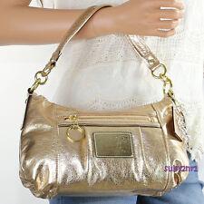 NWT Coach Poppy Metallic Leather Groovy Crossbody Shoulder Bag 20383E Bronze NEW