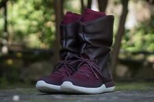 Women's Nike Roshe Two Hi Burgundy Leather Sneaker Boot Size 7