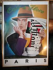 Affiche CAFE de FLORE à Paris - Illustration RAZZIA - Style Art Déco  St Germain