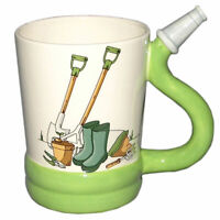 NOVELTY HOSE SHAPED 3D HANDLE GARDENERS GARDEN COFFEE MUG CUP NEW IN GIFT BOX